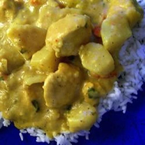 Receita de Curry de Frango Com Xerez