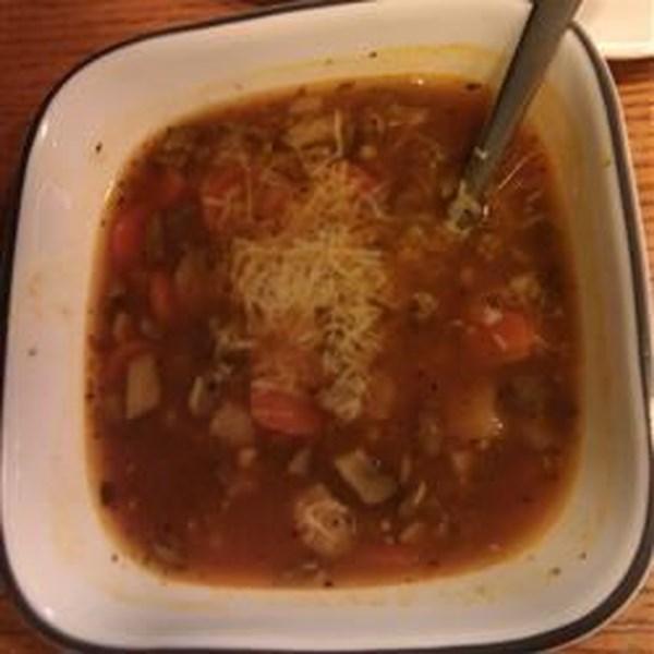 Receita de Sopa de Lentilha de Cogumelo portobello