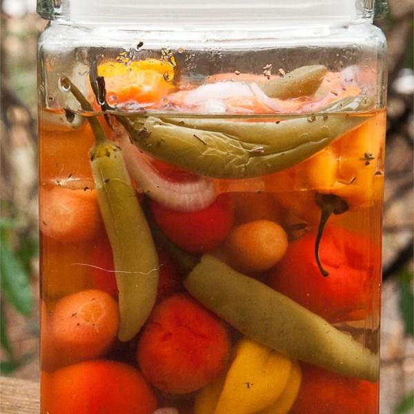 Receita de Jalapenos em Conserva e Cenouras