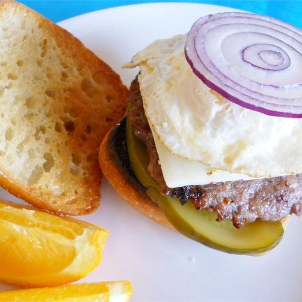 Receita de Hambúrgueres de Salsicha de Café da Manhã Fácil