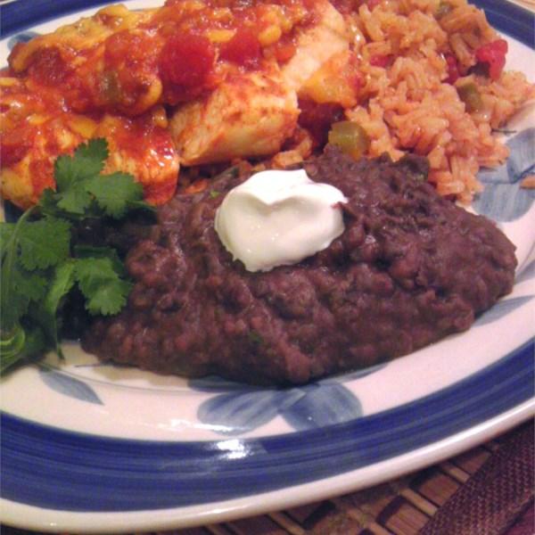 Receita de Feijão Refried de Peru Delicioso