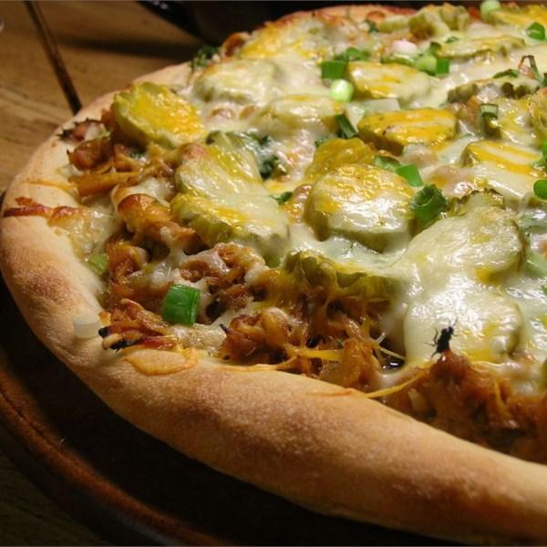 Receita de Pizza de Porco churrasco