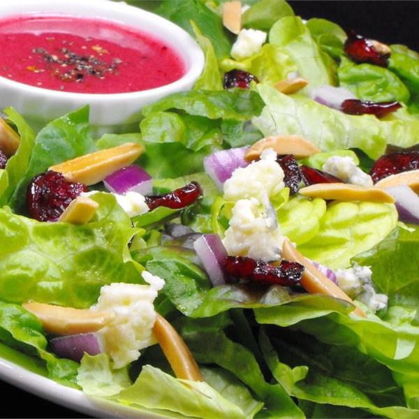 Salada Verde com Receita de Vinagrete de Cranberry