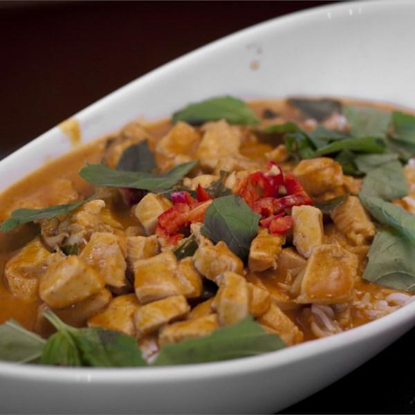 Panang Curry com Receita de Frango