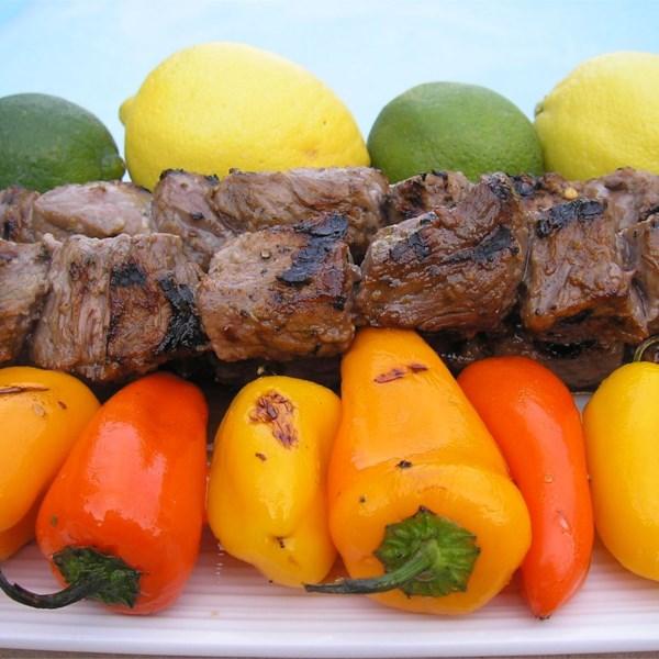 Receita de Espetos de Carne de Margarita