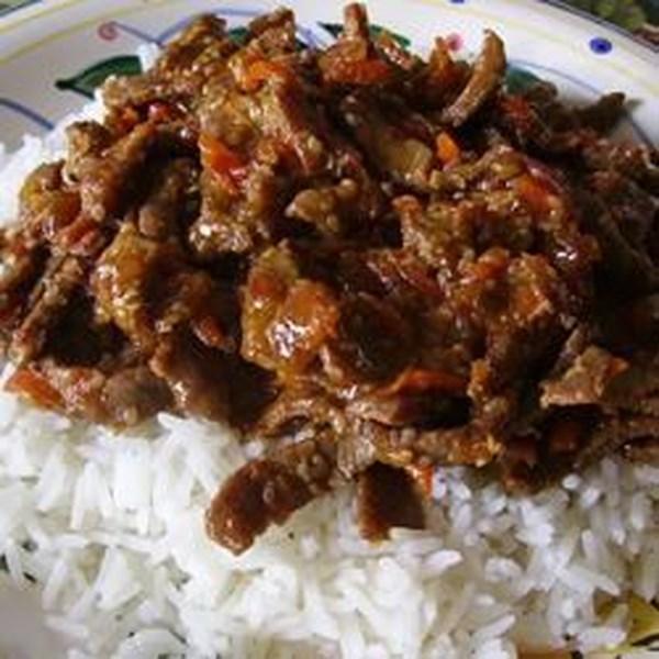 Receita asiática de carne de fogo