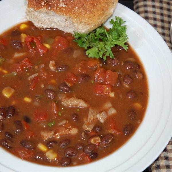 Receita de Sopa de Frango Chili
