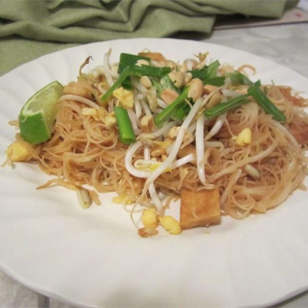 Receita autêntica de macarrão pad tailandês