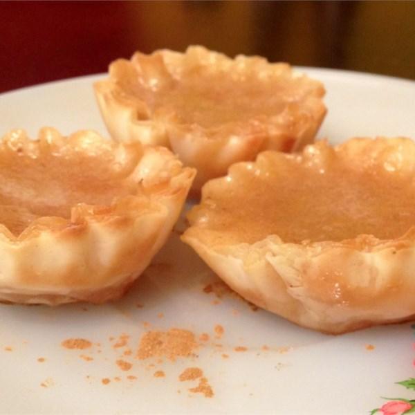 Receita de Tortas de Manteiga de Mel de Limão