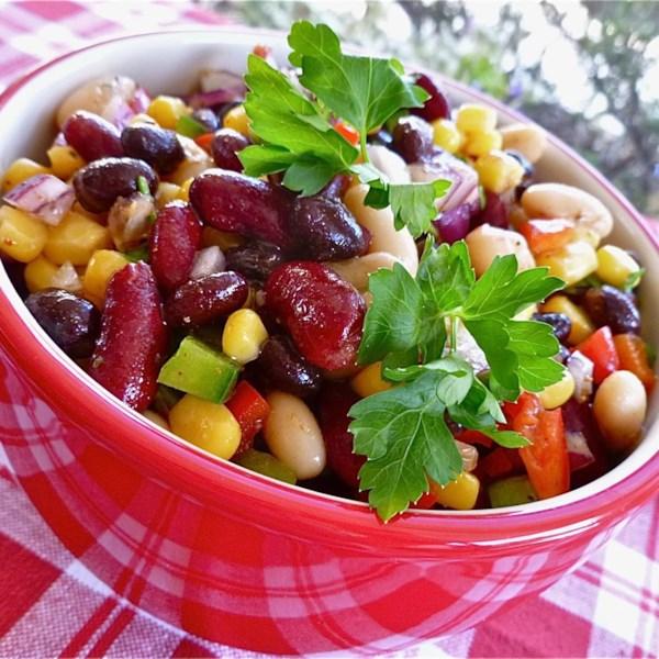 Receita de Salada de Feijão Mexicano