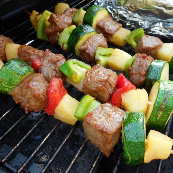 Kebabs de Shish de Carne para Receita de Cozimento Congelador