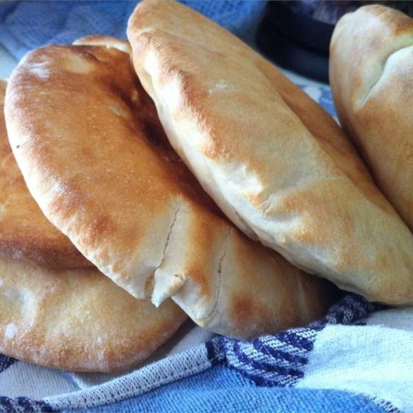 Receita de Pão de Pita de Peppy