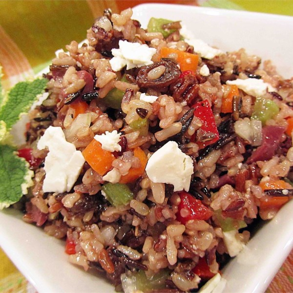 Receita de Salada de Arroz Integral Mediterrâneo