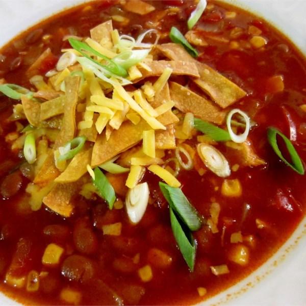 Receita de Sopa de Tortilla de Frango De Panela Lenta Mais Saudável