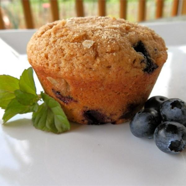 Receita de Muffins de Mirtilo de Trigo Integral