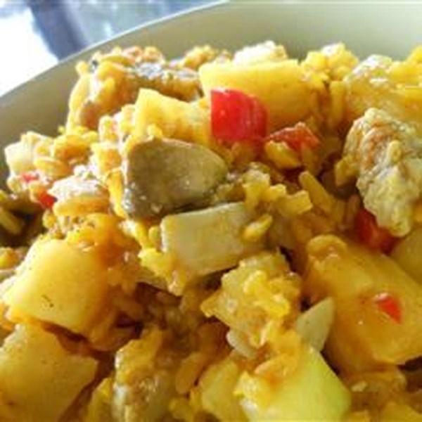 Receita de Arroz amarelo mediterrâneo e legumes