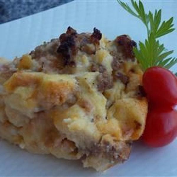Receita de Caçarola de Linguiça e Ovo