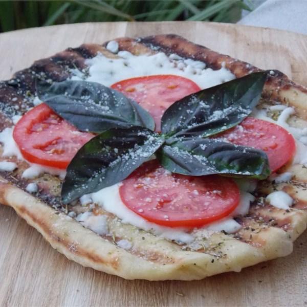 Receita de Margherita de Pizza Grelhada Crocante