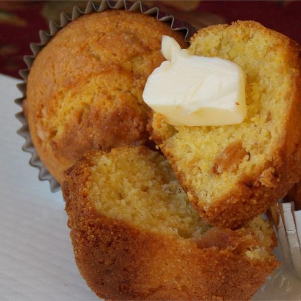 Receita de Muffins de Milho de Abacaxi de Manteiga Marrom