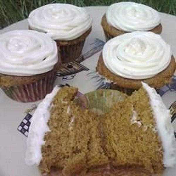 Receita de Cupcakes Temperados de Abóbora Fofa