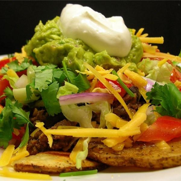Receita mexicana de nachos de batata