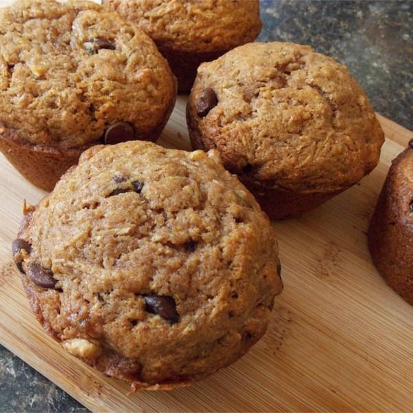 Receita de Muffins de Chocolate com Abobrinha