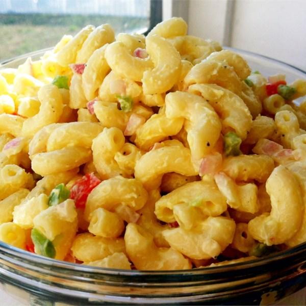 Receita clássica de salada de macarrão