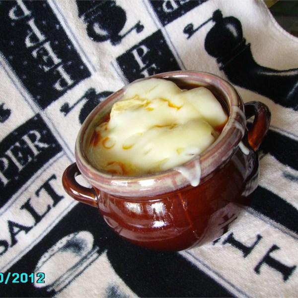 Receita de Sopa de Cebola de Panela Lenta