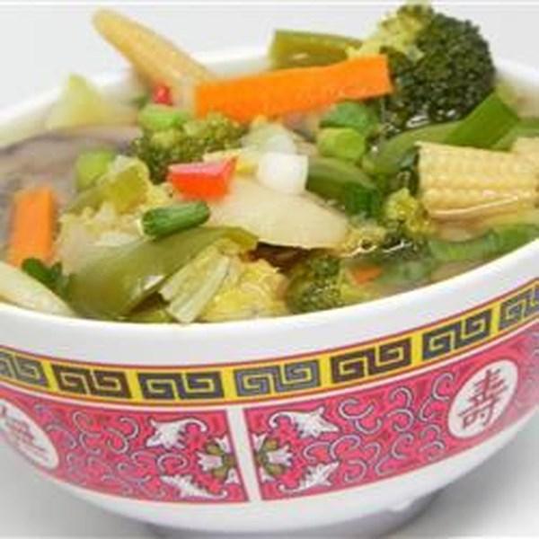 Receita de Sopa vegetal de frango chinês