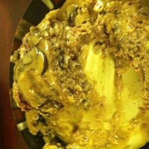 Receita de Bolo de Carne de Cogumelo Cremoso