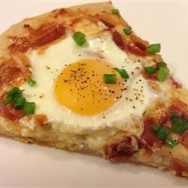 Receita de Pizza de Café da Manhã do Papai