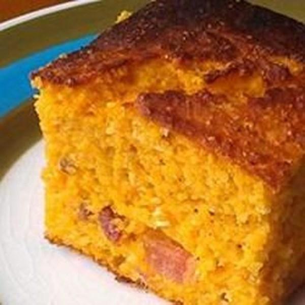 Receita de Pão de Milho de Batata Doce de Bacon
