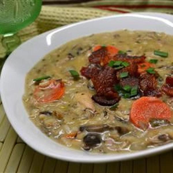 Receita de Sopa de Arroz Selvagem de Peru II