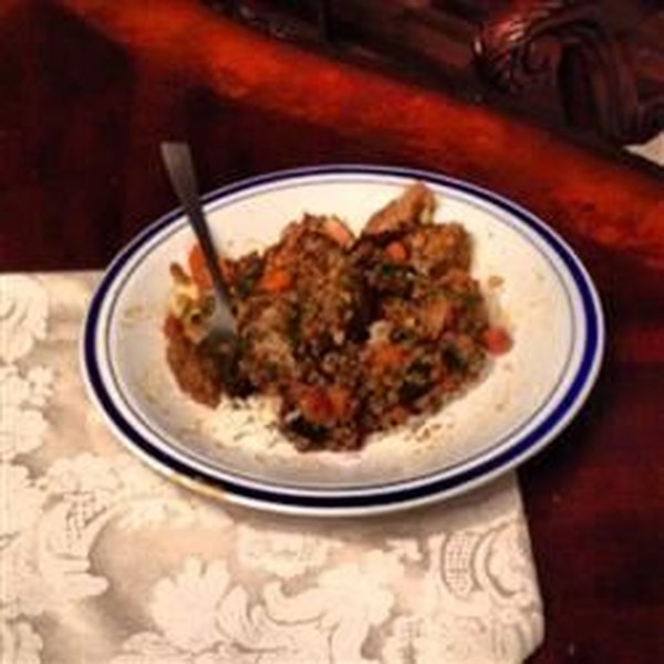 Receita de Cordeiro mediterrâneo e ensopado de lentilha