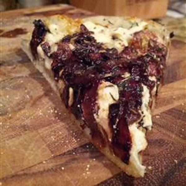 Receita de Pizza de Tomate e Cebola
