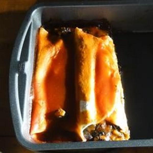 Receita de Enchiladas de Batata Doce Vegana