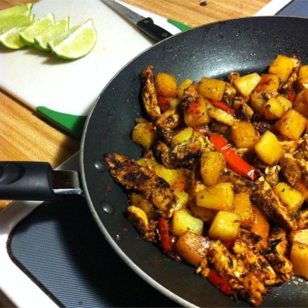 Receita fajitas de abacaxi de frango