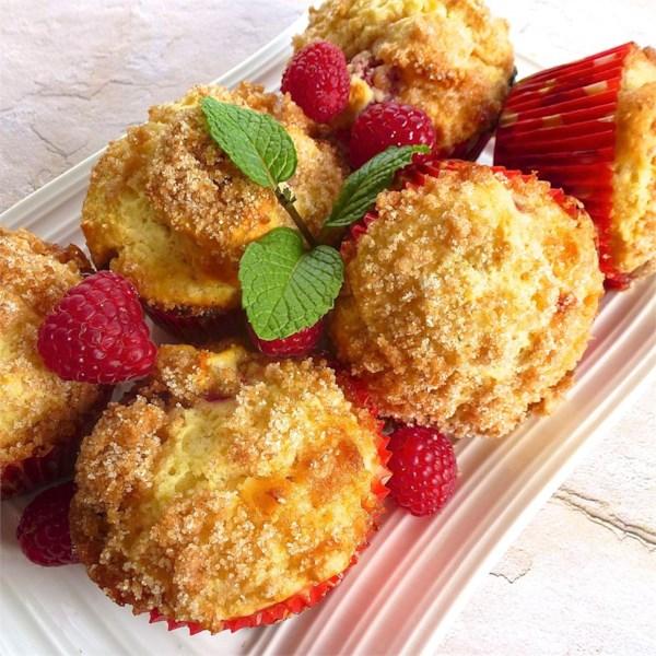 Receita de Muffins de Framboesa Branca