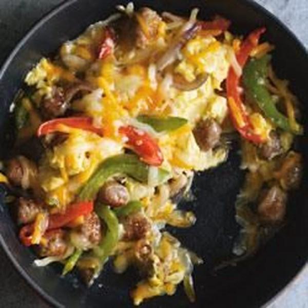 Receita de Burrito de Linguiça e Pimenta Do Nascer do Sol