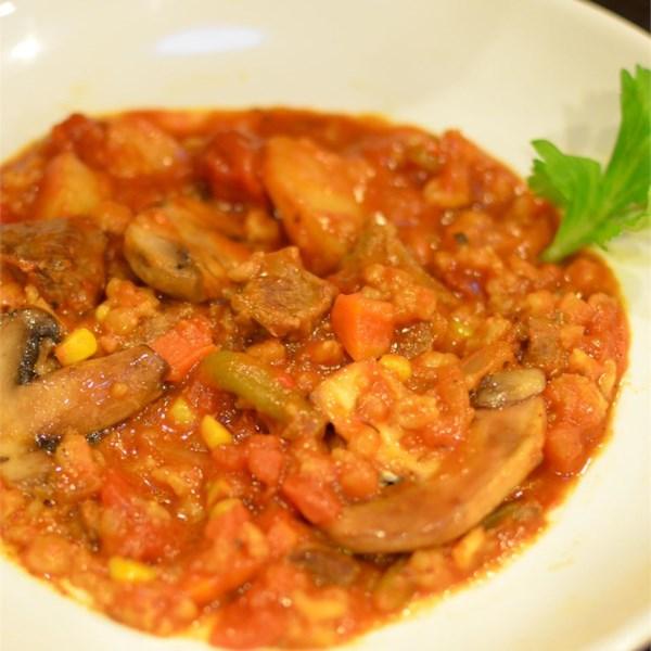 Receita de Sopa de Carne Vegetal-Cevada De Panela Fresca