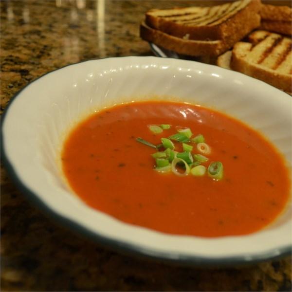 Receita de Pimenta Vermelha e Sopa de Tomate