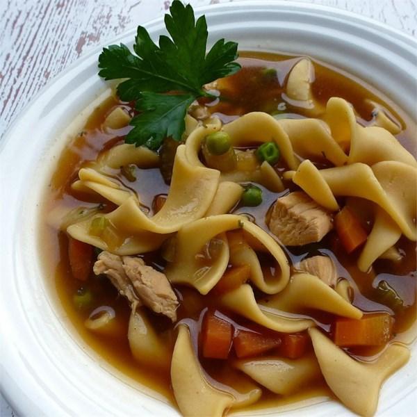 Receita de Sopa de Macarrão de Frango Chunky