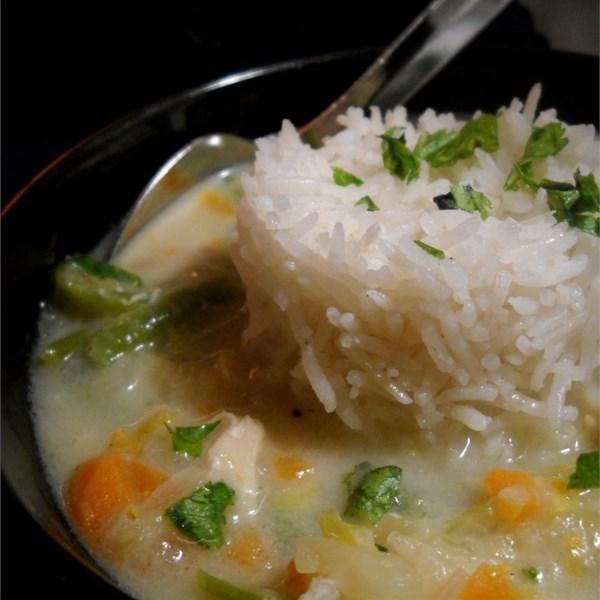 Receita de Sopa de Arroz de Frango