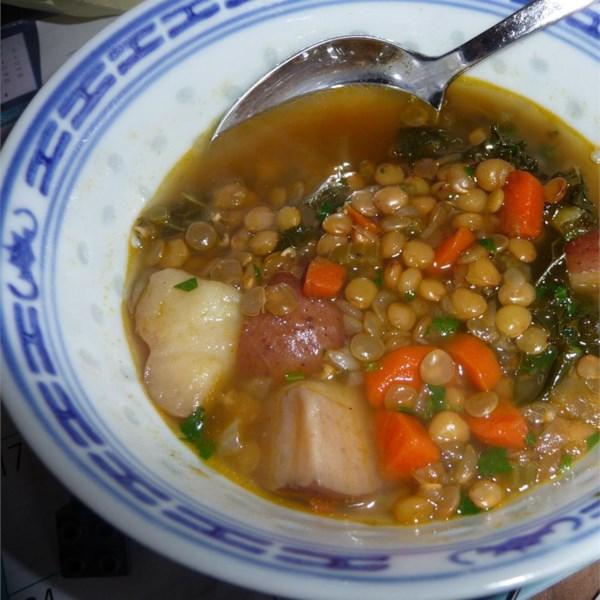 Receita de Lentilha Vermelha e Sopa de Batata de Ruth