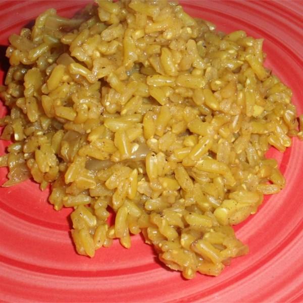Receita de Curry de Arroz Integral