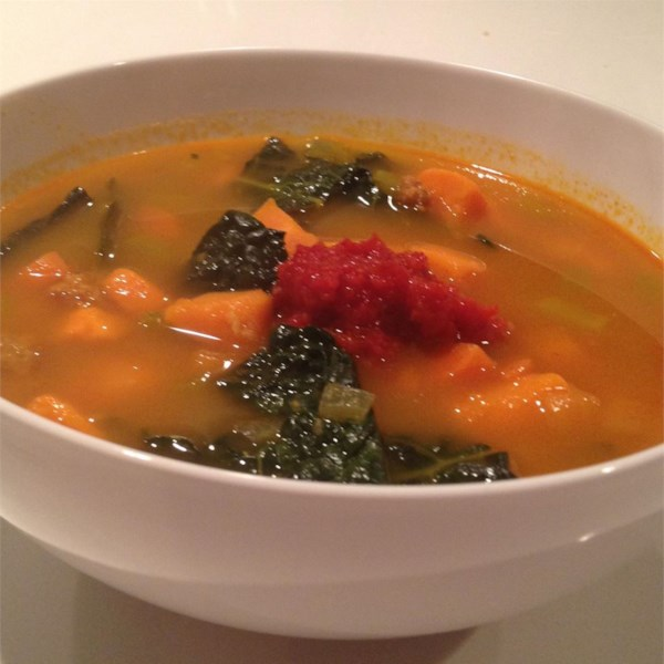 Paleo Chorizo Batata Doce e Receita de Ensopado de Couve