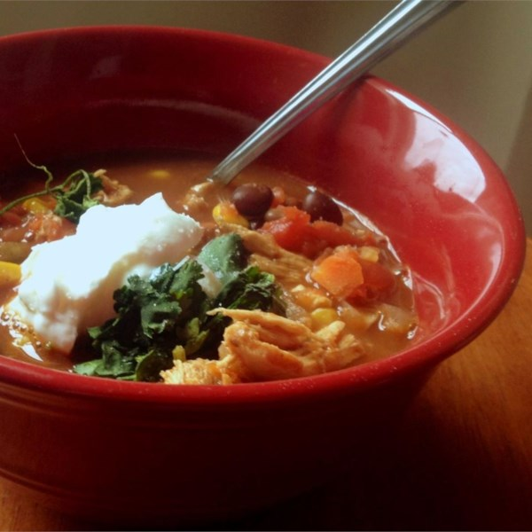 Receita de Sopa de Taco de Frango de Panela Lenta Mais Saudável