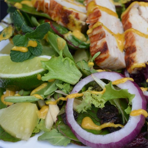 Receita de Salada de Frango Tandoori