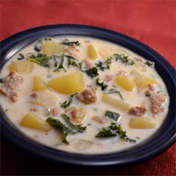 Receita de Sopa de Salsicha, Batata e Couve