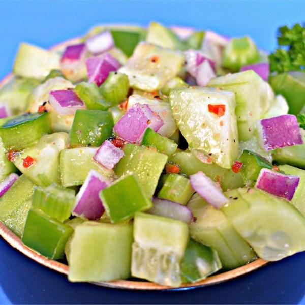 Receita de Salada de Pepino de Cebola Italiana